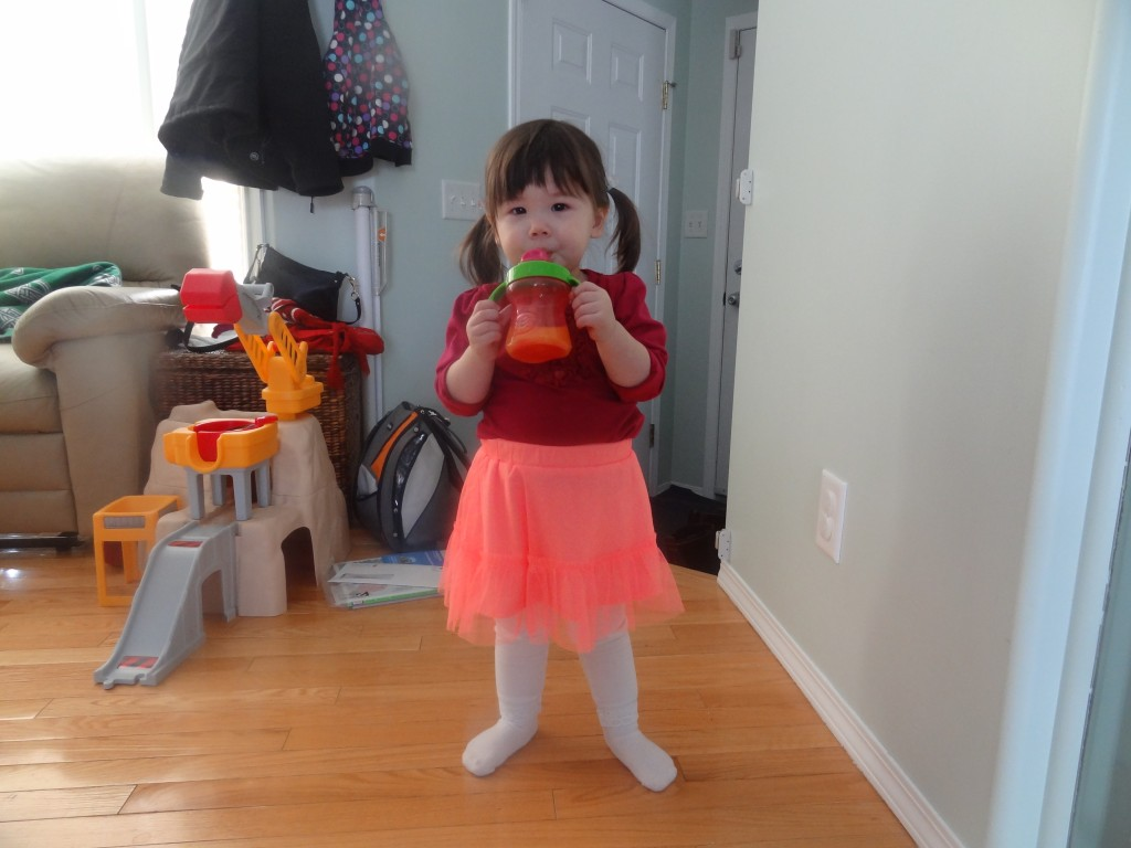 Erika in a tutu